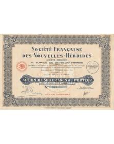 Sté Française des Nouvelles-Hébrides. 1931