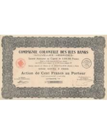 Cie Coloniale des Iles Banks (Nouvelles Hébrides). 1928