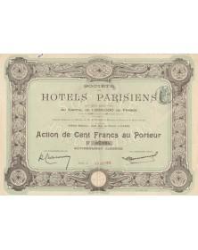 Sté des Hotels Parisiens