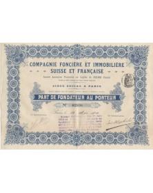 Cie Foncière & Immobilière Suisse et Française