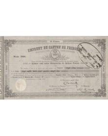 Emprunt du Canton de Fribourg - 1860