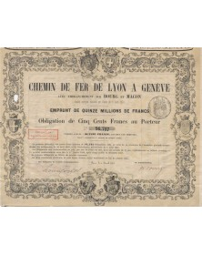 Chemin de Fer de Lyon à Genève avec Embranchement sur Bourg et Mâcon. 1857