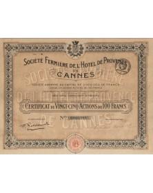 Sté Fermière de l'Hôtel de Provence de Cannes