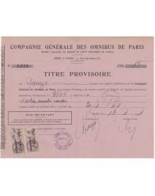 Cie Générale des Omnibus de Paris