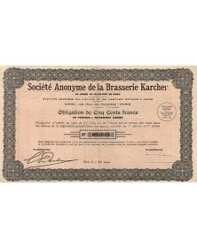 Sté Anonyme de la Brasserie Karcher