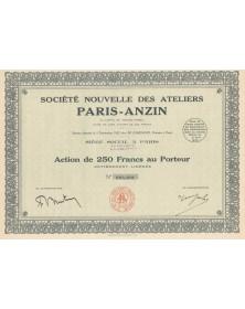 Sté Nouvelle des Ateliers Paris-Anzin