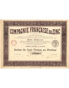 Cie Française du Zinc. 1916