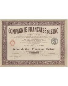 Cie Française du Zinc. 1919