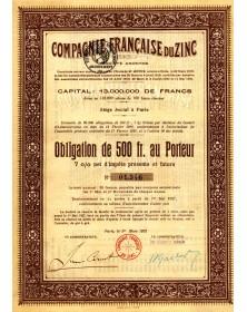 Cie Française du Zinc. 1922