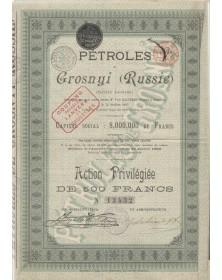 Pétroles de Grosnyi (Russie). 1896
