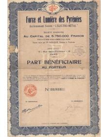 """Force et Lumière des Pyrénées, Anciennement Sté """"L'Electro-Métal"""""""