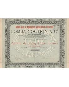 Lombard-Gerin & Cie, Sté pour les Applications Industrielles de l'Electricité