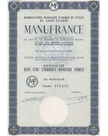MANUFRANCE - Manufacture Française d'Armes et Cycles de St-Etienne