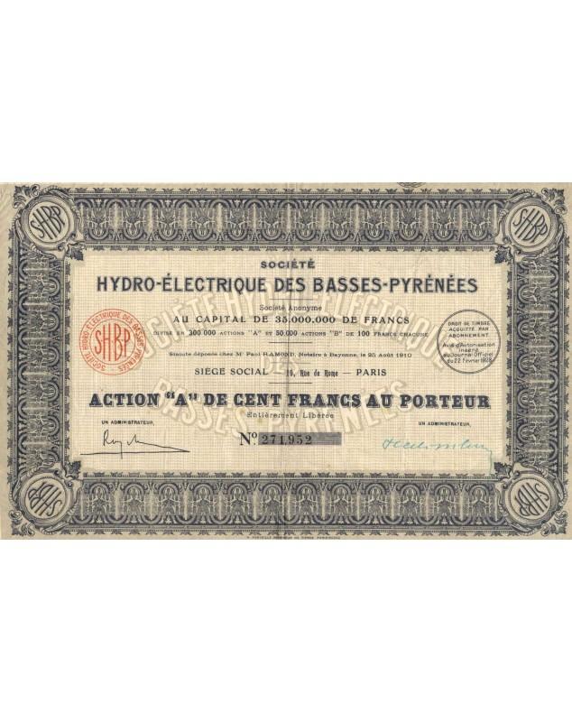 Sté Hydro-Electrique des Basses-Pyrénées