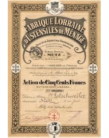 Fabrique Lorraine d'Ustensiles de Ménage, Anciens Ets Houpin