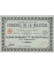 S.A. des Verreries de la Mulatière. 1929