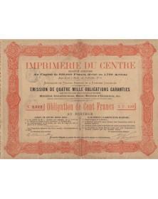 Imprimerie du Centre S.A., Spécialité de Tirages Rapides et à Diverses Couleurs