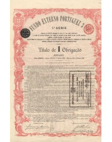 Dette Extérieure Portuguaise 3%, 1.A Série - avec coupons