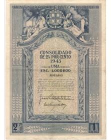 Junta do Credito Publico - Divida Publica Portuguesa - Consolidado de 2,3/4% 1943