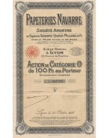 Papeteries Navarre. 1928