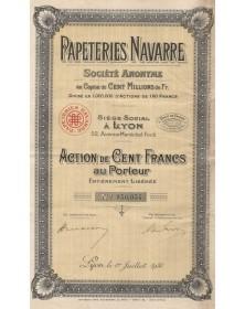 Papeteries Navarre. 1935