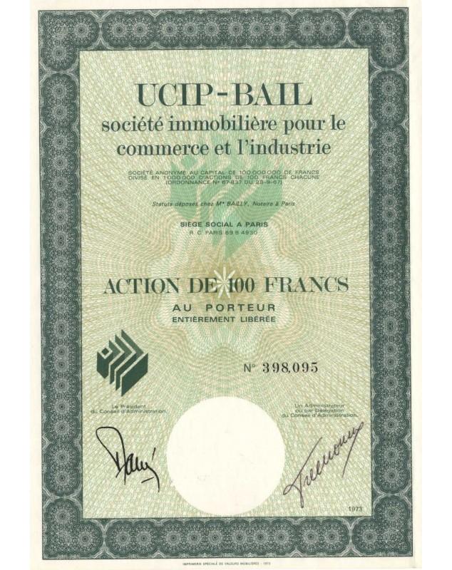 UCIP-BAIL Sté Immobilière pour le Commerce et l'Industrie