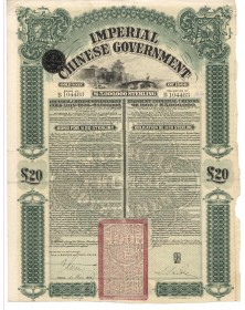 Imperial Chinese Imperial Government Gold Loan 1908. 20£