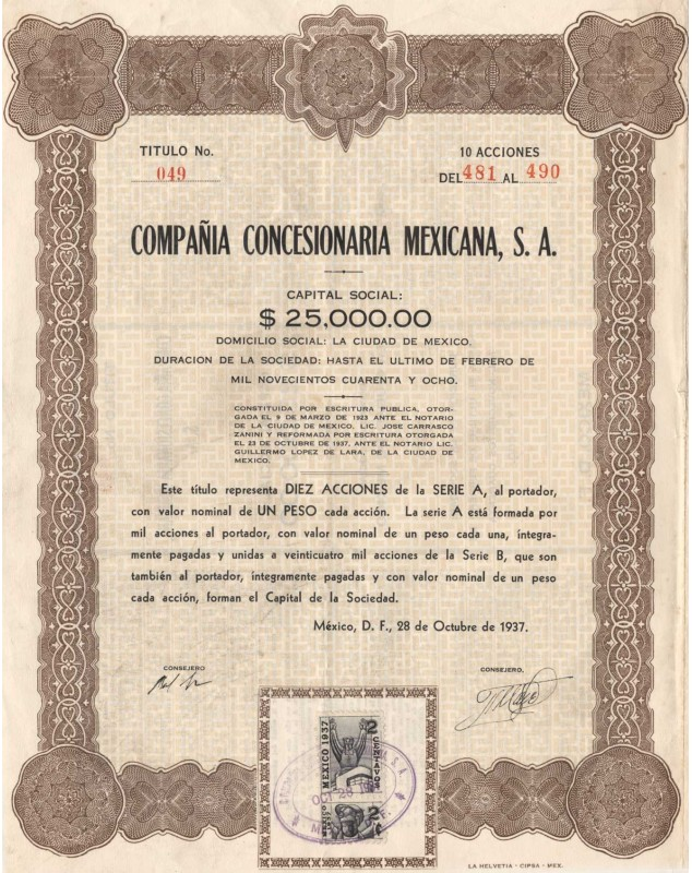 Compania Concesionaria Mexicana