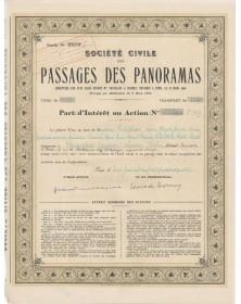 Sté Civile des Passages des Panoramas. 1944