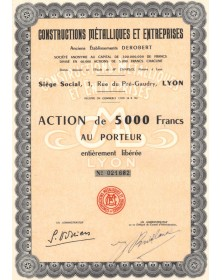 Constructions Métalliques et Entreprises, Anciens Ets Derobert