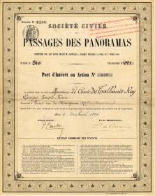 Sté Civile des Passages des Panoramas. 1894