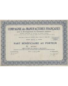 Cie des Manufactures Françaises pour le Commerce Extérieur
