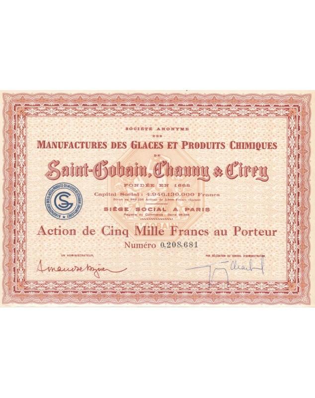 Manufactures des Glaces & Produits Chimiques St-Gobain, Chauny & Cirry