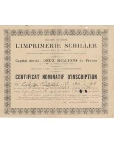 S.A. de l'Imprimerie Schiller (Ancienne Maison Ch. Schiller)