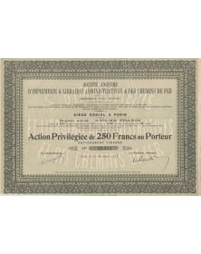 Sté d'Imprimerie & Librairie Administratives & des Chemins de Fer, Imprimerie Paul Dupont