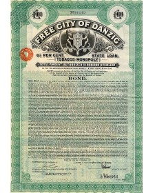 City of Danzig - 6.5% State Loan (Tobacco Monopoly)