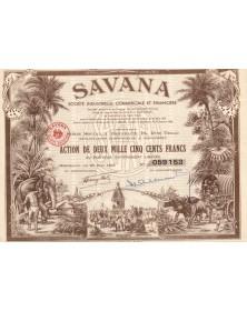 SAVANA - Sté Industrielle, Commerciale et Financière. 1952