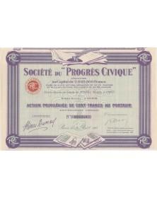 Sté du ''Progrès Civique''. 1923