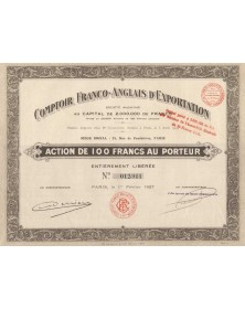 Comptoir Franco-Anglais d'Exportation. 1927