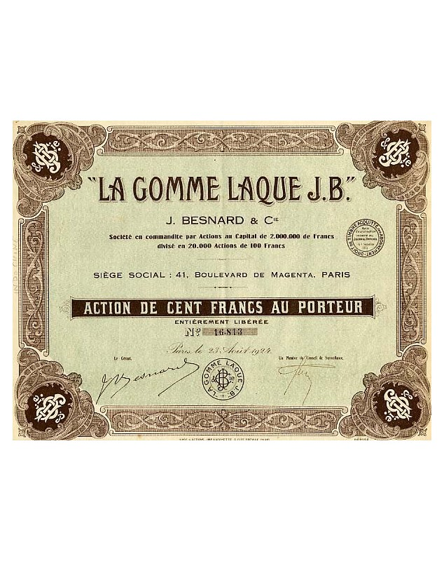La Gomme Laque J.B