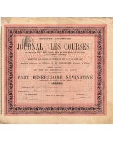 """S.A. du Journal """"Les Courses"""""""