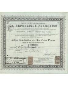 S.A. du Journal de la République Française. 1894