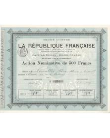 S.A. de la République Française. 1886
