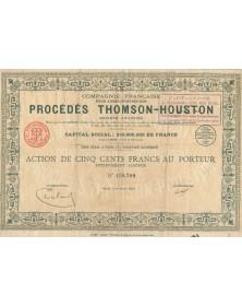 Cie Française pour l'Exploitation des Procédés Thomson-Houston (Thales). 1923