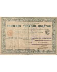 Cie Française pour l'Exploitation des Procédés Thomson-Houston (Thales). 1898