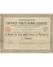 S.A. des Coffres-Forts Henri Lequeue