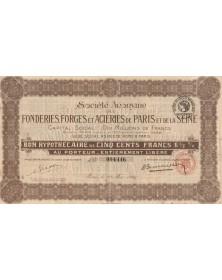 S.A. des Fonderies, Forges et Aciéries de Paris et de la Seine