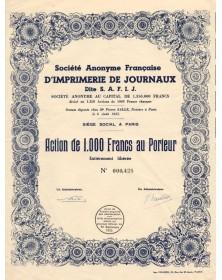 S.A. Française d'Imprimerie de Journaux dite SAFIJ