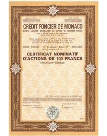 Crédit Foncier de Monaco, S.A. Monégasque