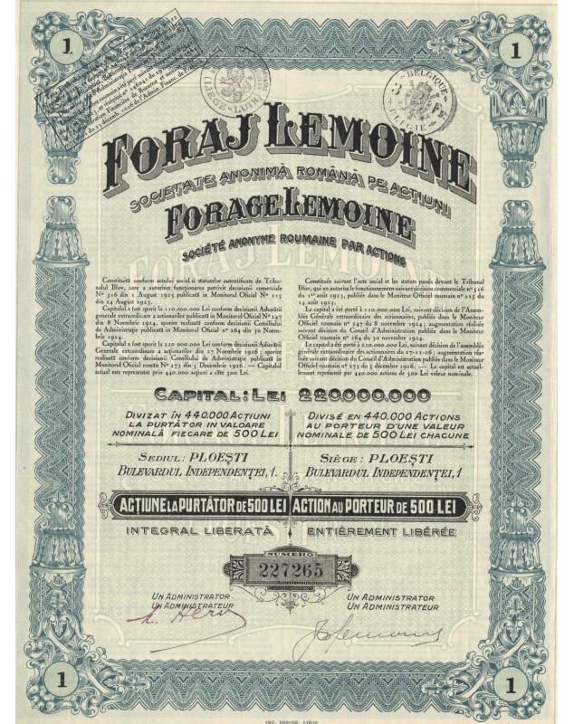 Foraj Lemoine - Forage Lemoine, S.A. Roumaine par Actions (Lemoine Drilling)
